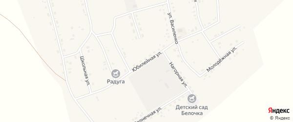 Юбилейная улица на карте Сосново-озерского села с номерами домов