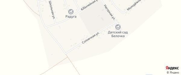 Солнечная улица на карте Сосново-озерского села с номерами домов