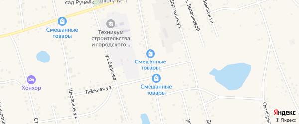 Улица Василенко на карте Сосново-озерского села с номерами домов