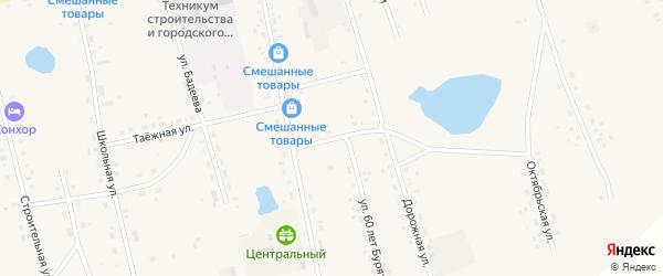 Дорожный переулок на карте Сосново-озерского села с номерами домов