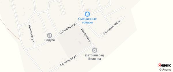 Нагорная улица на карте Сосново-озерского села с номерами домов