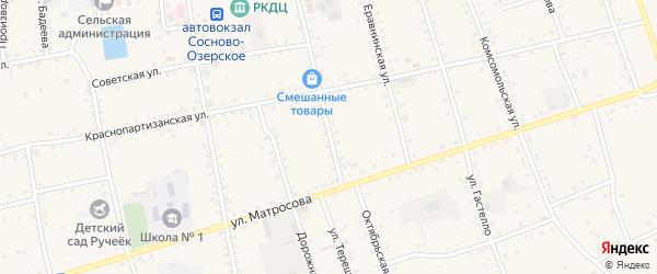 Октябрьская улица на карте Сосново-озерского села с номерами домов