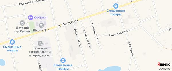 Улица Терешковой на карте Сосново-озерского села с номерами домов