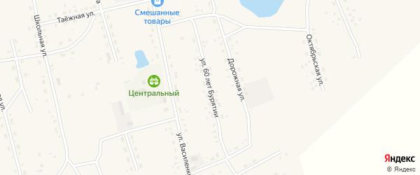 Улица 60 лет Бурятии на карте Сосново-озерского села с номерами домов