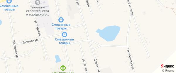 Дорожная улица на карте Сосново-озерского села с номерами домов