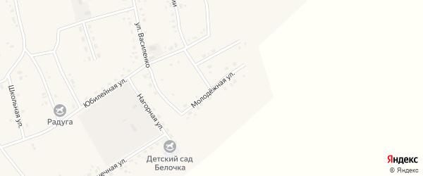 Молодежная улица на карте Сосново-озерского села с номерами домов