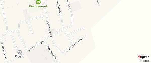 Юбилейный переулок на карте Сосново-озерского села с номерами домов