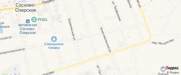 Улица Гастелло на карте Сосново-озерского села с номерами домов