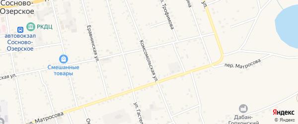 Комсомольская улица на карте Сосново-озерского села с номерами домов