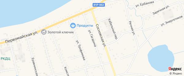 Улица Гагарина на карте Сосново-озерского села с номерами домов