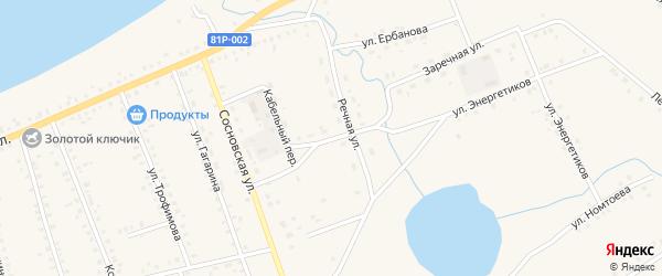 Речной переулок на карте Сосново-озерского села с номерами домов