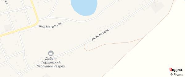 Улица Номтоева на карте Сосново-озерского села с номерами домов