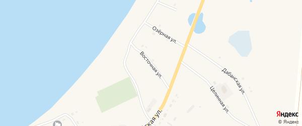 Восточная улица на карте Сосново-озерского села с номерами домов