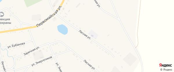 Лесная улица на карте Сосново-озерского села с номерами домов