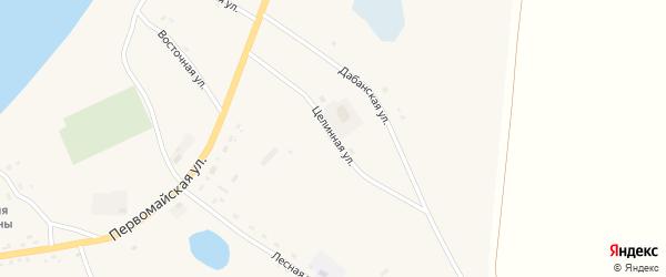 Целинная улица на карте Сосново-озерского села с номерами домов