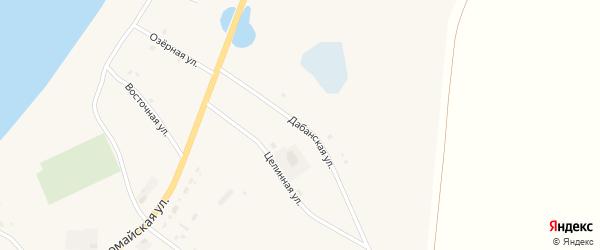 Дабанская улица на карте Сосново-озерского села с номерами домов
