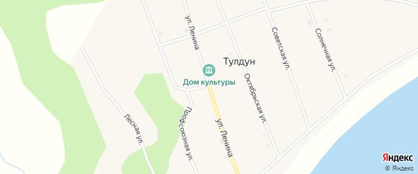 Улица Ленина на карте поселка Тулдуна с номерами домов