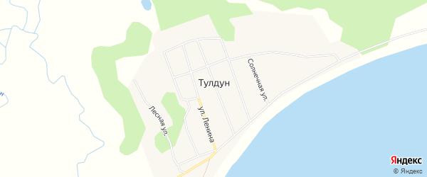 Карта поселка Тулдуна в Бурятии с улицами и номерами домов