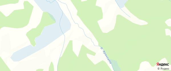 Карта заимки Гурт Арангаты в Бурятии с улицами и номерами домов