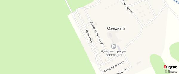 Таежная улица на карте Озерного поселка с номерами домов