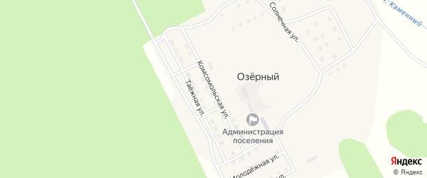 Комсомольская улица на карте Озерного поселка с номерами домов