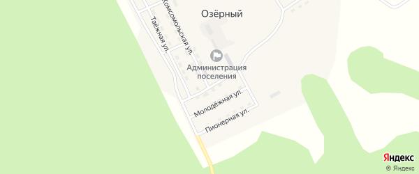 Озерная улица на карте Озерного поселка с номерами домов