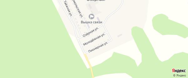 Молодежная улица на карте Озерного поселка с номерами домов