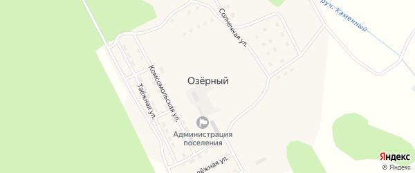 Строительная улица на карте Озерного поселка с номерами домов