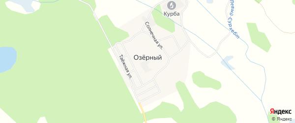Карта Озерного поселка в Бурятии с улицами и номерами домов