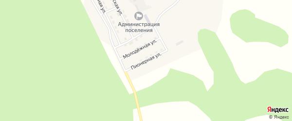 Пионерная улица на карте Озерного поселка с номерами домов