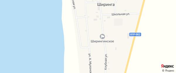 Улица А.Мулонова на карте поселка Ширинга с номерами домов