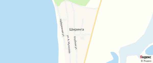 Местность Комсомол на карте поселка Ширинга с номерами домов