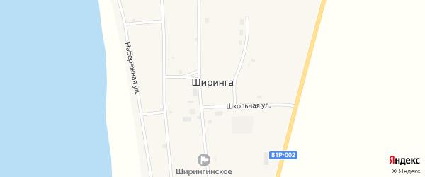 Школьная улица на карте поселка Ширинга с номерами домов