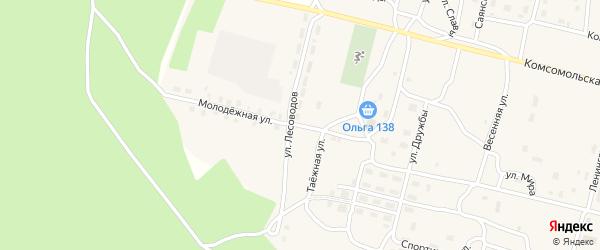 Молодежная улица на карте поселка Нового Уояна с номерами домов