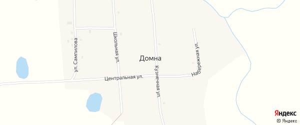 Участок Гурт Хаара Тором на карте села Домны с номерами домов