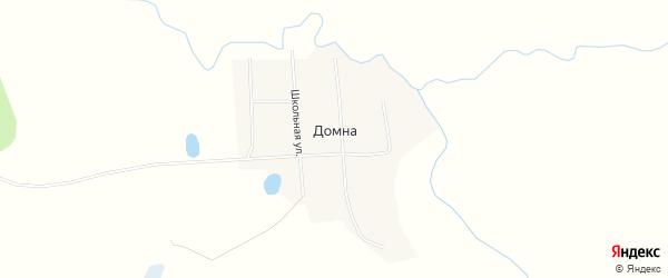 Карта села Домны в Бурятии с улицами и номерами домов