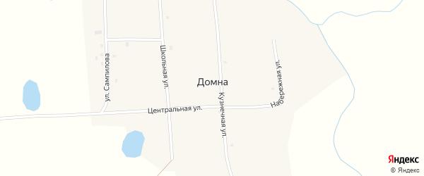 Центральная улица на карте села Домны с номерами домов