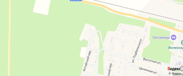 Российская улица на карте поселка Нового Уояна с номерами домов