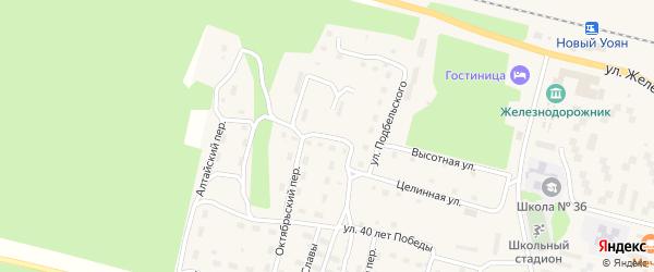 Улица Лесорубов на карте поселка Нового Уояна с номерами домов