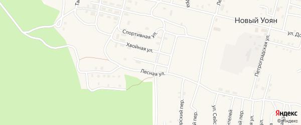 Олимпийская улица на карте поселка Нового Уояна с номерами домов