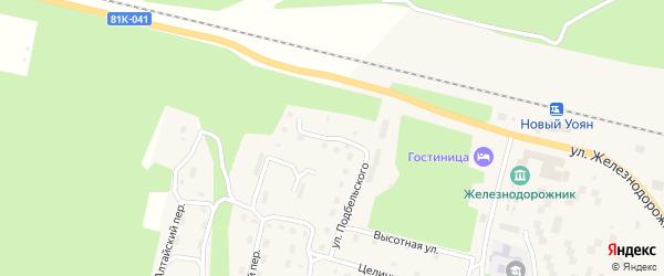 Донецкая улица на карте поселка Нового Уояна с номерами домов