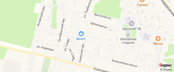Улица 40 лет Победы на карте поселка Нового Уояна с номерами домов