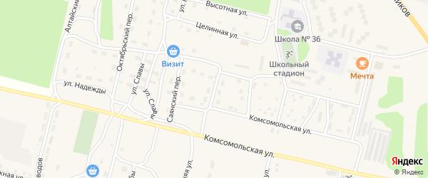 Селенгинский переулок на карте поселка Нового Уояна с номерами домов