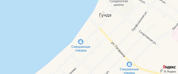 Улица Ленина на карте поселка Гунда с номерами домов