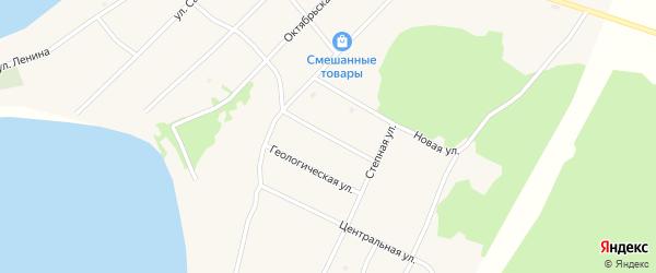 Молодежная улица на карте поселка Гунда с номерами домов