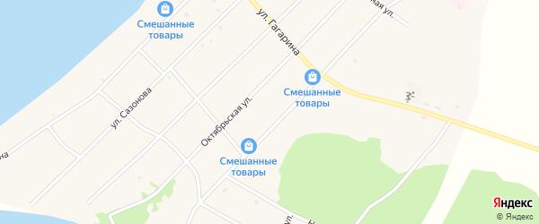 Центральная улица на карте поселка Гунда с номерами домов