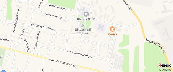 Литовский проспект на карте поселка Нового Уояна с номерами домов