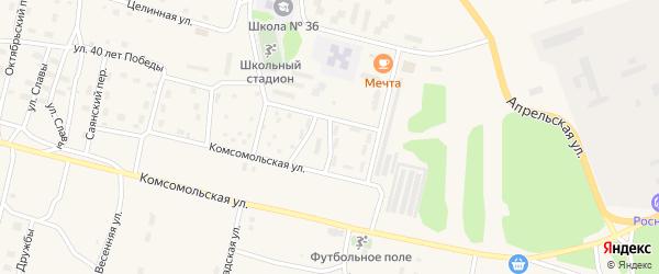 Юбилейная улица на карте поселка Нового Уояна с номерами домов