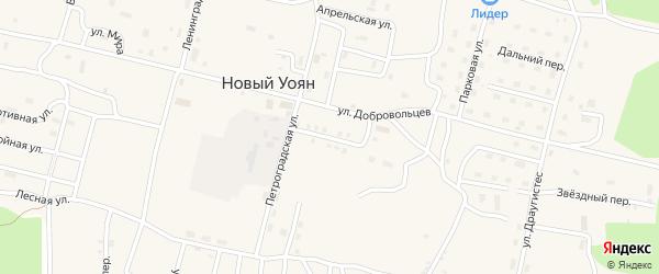 Улица Симагина на карте поселка Нового Уояна с номерами домов