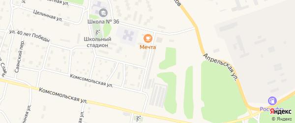 Улан-Удэнская улица на карте поселка Нового Уояна с номерами домов